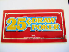 IGT. Slot Machine Insert. Poker Glass. DRAW POKER 25 cent. 003.