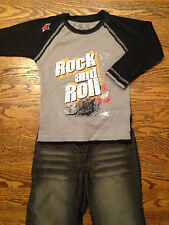 Boys Rock and Roll Shirt and Jeans - Size 4 - Moppit and 3JTees