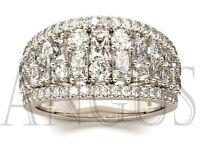 3.42ct Brilliant cut Diamond Engagement Bridal Wedding Band Solid 14K White gold