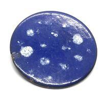 Vintage Brooch Pin Round Copper Enamel