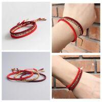 New Lucky Handmade Buddhist Knots Rope Bracelet - Tibetan Buddhist Bracelet