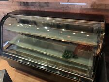 Deli Case New Curved Glass Refrigerator Display Bakery Pastry Food Case