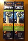 8 BRAUN ORAL B CROSS ACTION TOOTHBRUSH REPLACEMENTS BRUSH HEADS REFILLS