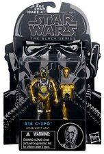 "C-3PO ( 4"") 2014 (BLACK SERIES) STAR WARS ACTION FIGURE #16 w/ADD-ON OUTER ARMOR"