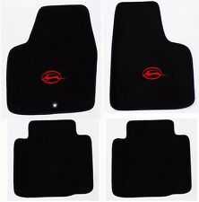 NEW! BLACK Floor Mats 2006-2014 Chevy Impala Embroidered Running Logo Red set 4