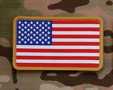USA US Stars & Stripes Flag Patch MilSpec PVC Patch Hook
