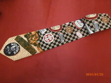 Vtg Molson Breweries Beer Classic Logos Crepe de Chine Barman Tie