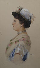 Oto Nowak. Damenbildnis im Profil 1909