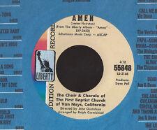 FIRST BAPTIST CHURCH VAN NUYS CHOIR Amen 45 RECORD NEAR MINT DJ STOCK