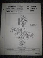 TRIUMPH SPITFIRE - 1970-Stromberg per carburatori-Originale Pezzi Di Ricambio programmare