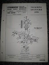 Triumph Spitfire - 1970-Stromberg du carburateur-Genuine spare parts calendrier