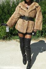blonde brown Mink Fur coat jacket bolero Stroller M