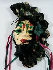 Vintage Rare Resin Mardi Gra Mask Decoration Signed