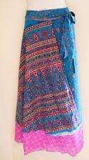 NEW INDIAN SILK REVERSIBLE DOUBLE LAYER WRAP SKIRT/DRESS WEAR 100 WAYS!