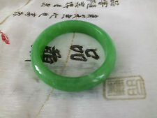 CHINESE WOMEN 57mm GREEN JADE BANGLE BRACELET WOMEN BIRTHDAY PARTY GIFT POUCH RB