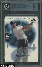 2002 SP Game Used Golf Course Of A Champion Tiger Woods Signed AUTO BGS 9 w/ 10
