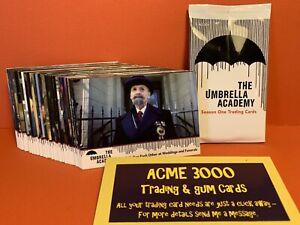 2020 Rittenhouse UMBRELLA ACADEMY Season 1 Base 63 Card Set + 1x Empty Pack