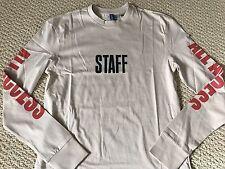 NWT Justin Bieber Purpose World Tour Merch Staff Long Sleeve Tee Shirt Sz XS