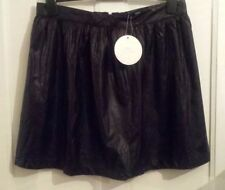 Faux Leather Party Short/Mini Plus Size Skirts for Women
