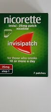 Nicorette invisible 25mg patch nicotine  step 1 for 10 or more a day smoking