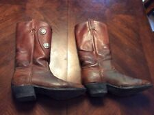 Ultra Rare Vintage Tony Lama Red Brown Womens Boots Size 6M Cowboy Western