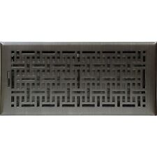 Oil Rubbed Bronze Wicker Metal Floor Vent Register Cover 150x350mm