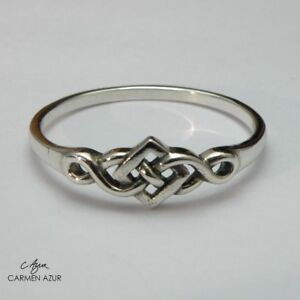 Solid 925 Sterling Silver Ring Celtic Knot Size L1/2,O,O1/2,P,Q1/2 New +Gift Bag