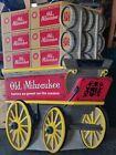 "1972 old Milwaukee beer 65"" western stagecoach wagon & barrels wis bar"