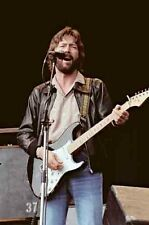 """12""""*8"""" concert photo of Eric Clapton, playing at Blackbushe in 1978"""