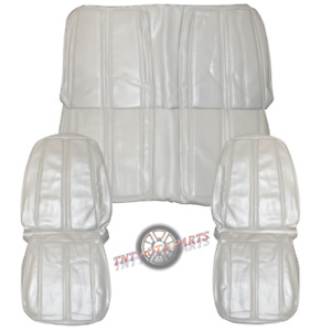 1968 Roadrunner Seat Covers Front & Rear White Convertible Plymouth Satellite