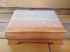 "Levenger Solid Cherry Hard Wood Wooden Jewelry Trinket Desk Box 9.5""x7.5"""
