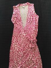 DIANE VAN FURSTENBERG LOVELY WRAP DRESS  PRETTY PINK FLOWER DESIGN UK 16 US 12