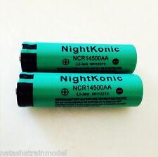 Batteria ricaricabile NightKonic 14500 800mAh 3.7V Li-ion Litio 2 pezzi