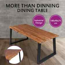 vidaXL Solid Acacia Wood Dining Table Dinner Kitchen Industrial Vintage retro