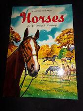 HORSES A Maxton Book About E Joseph Dreany Vtg 1950 Children's Illustrated HC