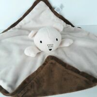 First Impressions Macy's Brown Bear Lovey Fleece Security Blanket Baby Toy 14""