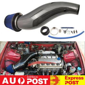 100% Real Carbon Fiber Air Intake Pipe w/ Air Filter For 92-00 Honda Civic EK EG