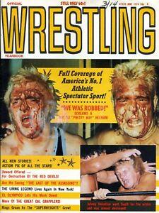 BOBBY HEENAN Official Wrestling Yearbook Magazine June 1974 JOHNNY VALENTINE