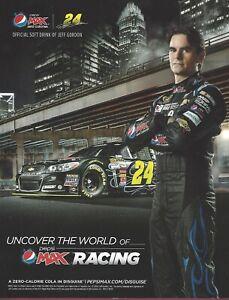 "Jeff Gordon, NASCAR Driver, 8 1/2"" x 11"" Color Photocard"