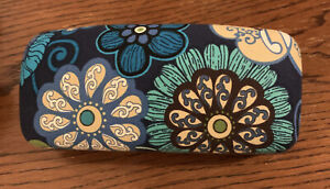 VERA BRADLEY GLASSES  OR  Sunglasses CASE Blue Turquoise FLORAL  NEW