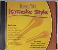 Hinsons Volume 1 Christian Karaoke Style NEW CD+G Daywind 6 Songs