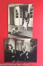 2 x Presse Foto 24 cm x 18 cm um 1966 Willi Brandt und Kurt Kiesinger  ( F12161
