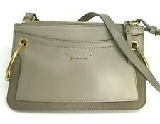 New w/tag $1250.Chloe Roy Crossbody Bag. Gray Leather/Suede w/Authenticity Card