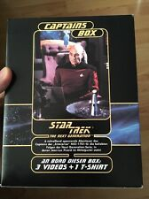 Star Trek Next Generation Captains Box VHS + T-Shirt