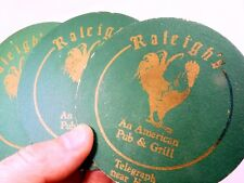Raleigh's An American Pub & Grill Bar Coaster Beer lot 3  Free Shipping USA