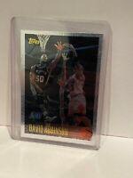 1996-97 Topps Chrome David Robinson w/ Michael Jordan Sant Antonio Spurs/Bulls