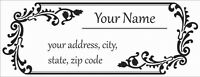 30 Personalized Custom Address Labels Laser Printed Vintage Pattern Stickers