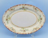 EMPRESS CHINA JAPAN OVAL SERVING TRAY FLORAL PATTERN