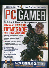 PC GAMER 1999command and conquer renegade,system shock2,the sims,soldier fortune