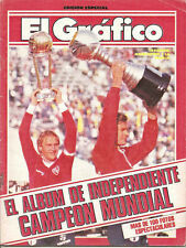 INTERCONTINENTAL CUP 1984 - INDEPENDIENTE CHAMPION vs LIVERPOOL - El Grafico mag